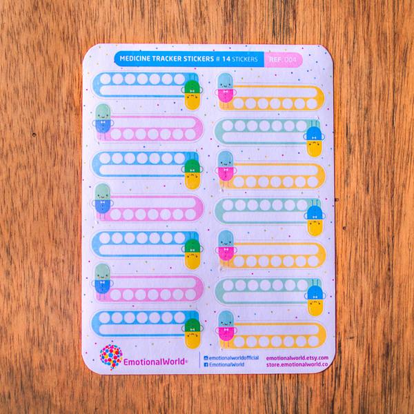 Lámina de Stickers para Planear Health