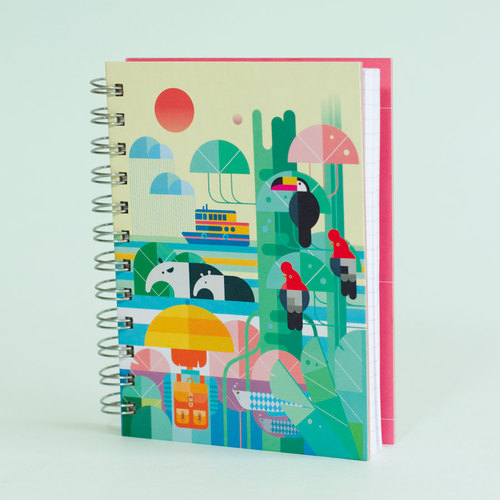 Cuaderno Raining in the jungle