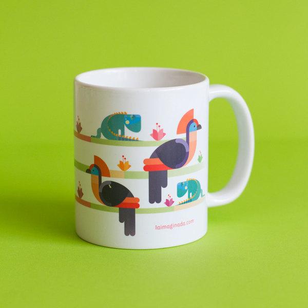 Mug / Taza Hoatzin e Iguana