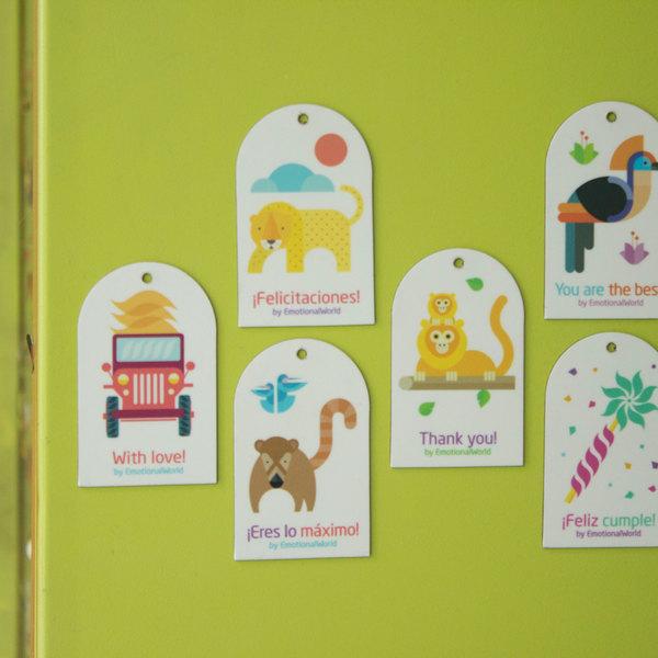 Set 6 etiquetas imantadas Colombia Imaginada