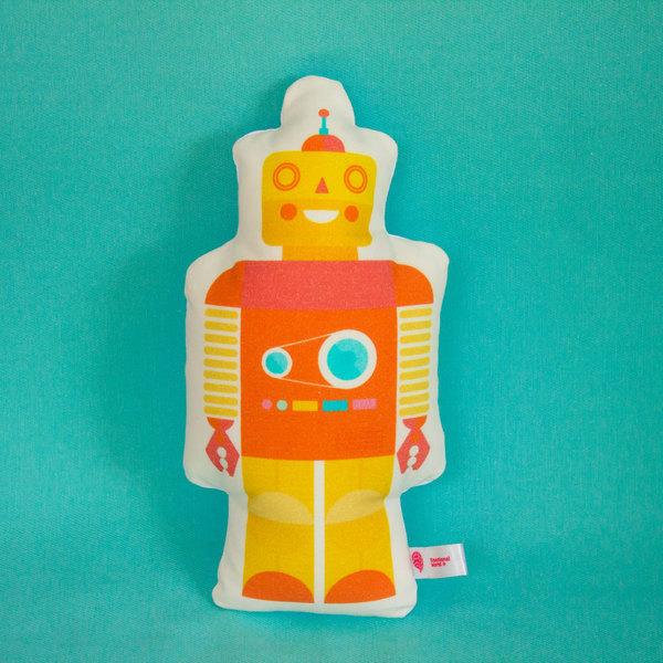 Cojín Robot Amarillo