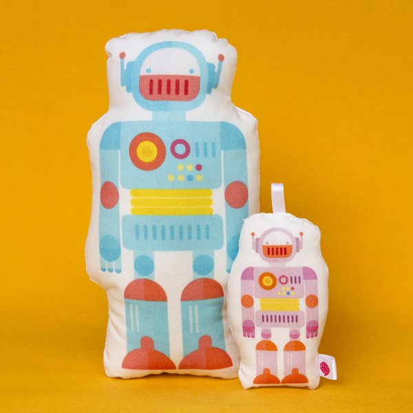 Cojín Robot Azul