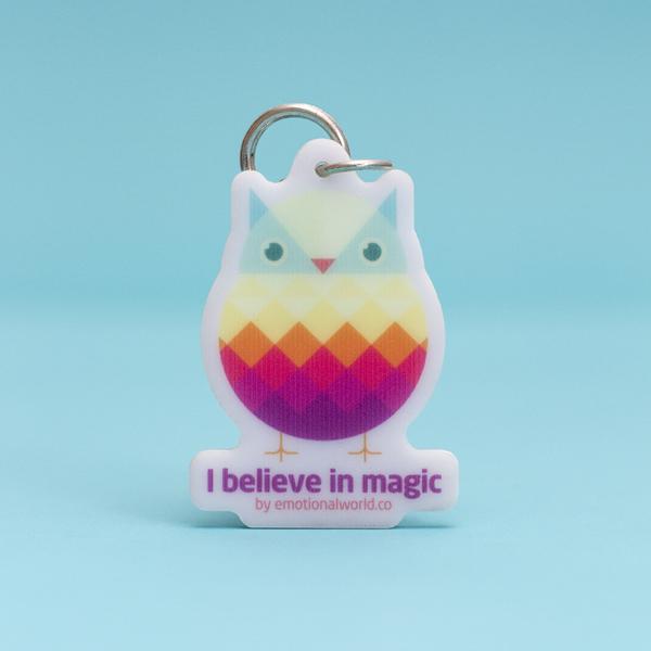Llavero Búho - Creo en la magia