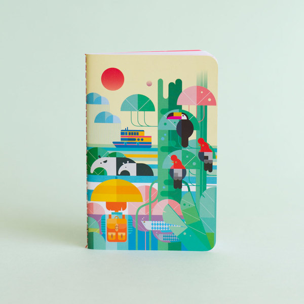 "Libreta ""Raining in the jungle"""