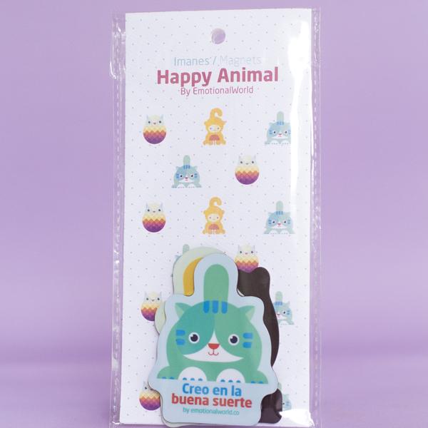 Set  de 3 imanes Happy Animals