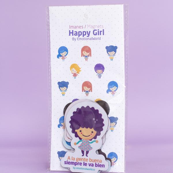 Set  de 5 imanes Happy Girl