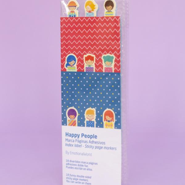 Carpeta Sticker marca páginas Happy People