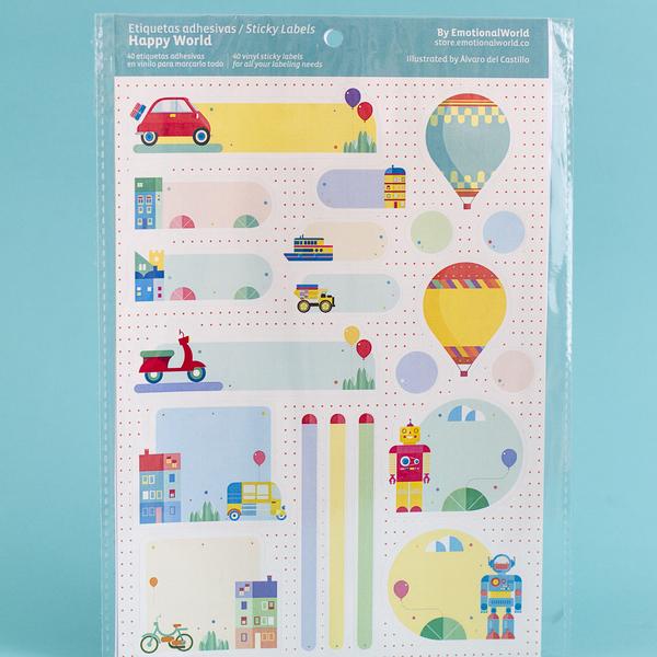 Stickers Happy World